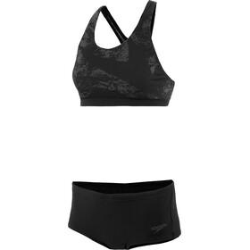speedo Boomstar Placement 2 Piece Bikini Women black/oxid grey